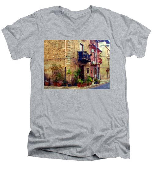 A Corner In Sicily Men's V-Neck T-Shirt