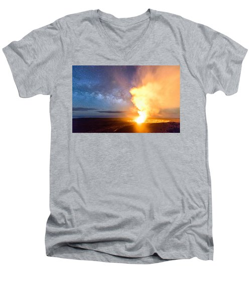 A Cosmic Fire Men's V-Neck T-Shirt