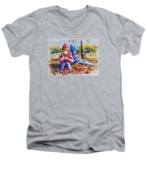 A Crop Of Good Friends Men's V-Neck T-Shirt