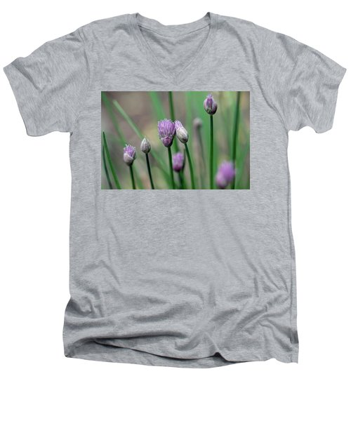 Men's V-Neck T-Shirt featuring the photograph A Culinary Necessity by Debbie Oppermann