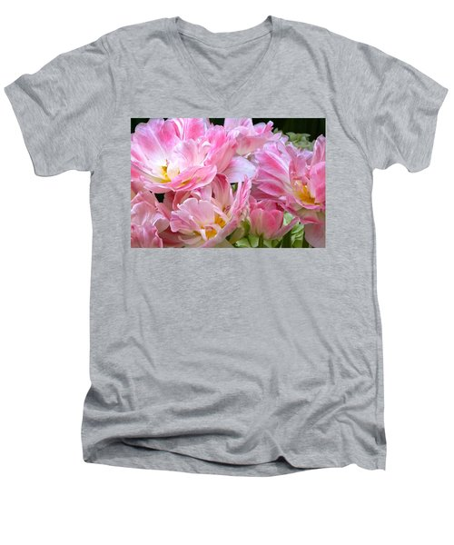 A Crowd Of Tulips Men's V-Neck T-Shirt