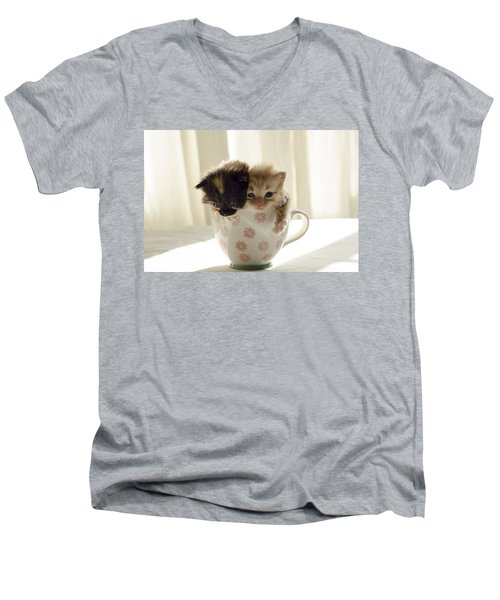 A Cup Of Cuteness Men's V-Neck T-Shirt