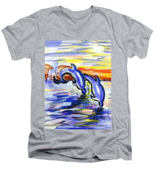 A Day At The Beach 4 Men's V-Neck T-Shirt