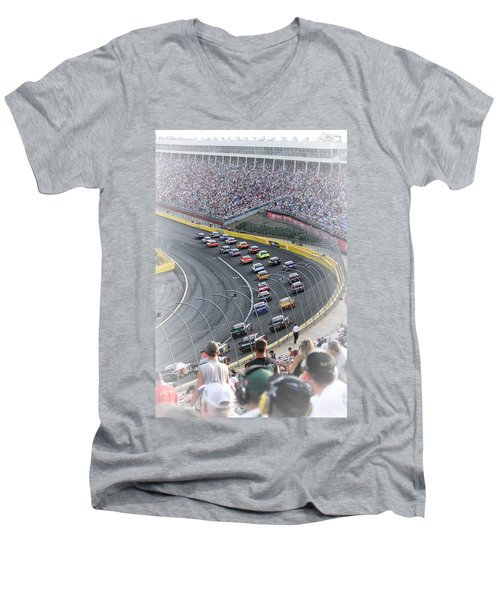 A Day At The Racetrack Men's V-Neck T-Shirt by Karol Livote