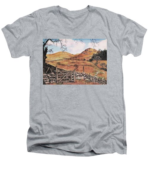 A Day In The Country Men's V-Neck T-Shirt by Sophia Schmierer