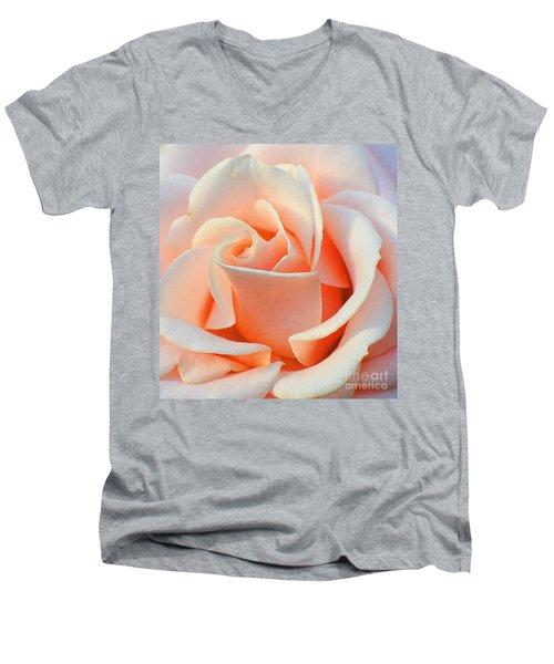 A Delicate Rose Men's V-Neck T-Shirt