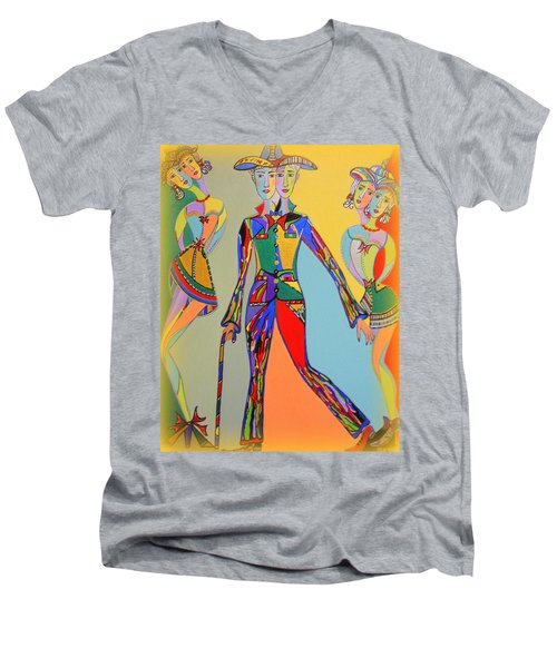Men's Fantasy Men's V-Neck T-Shirt by Marie Schwarzer