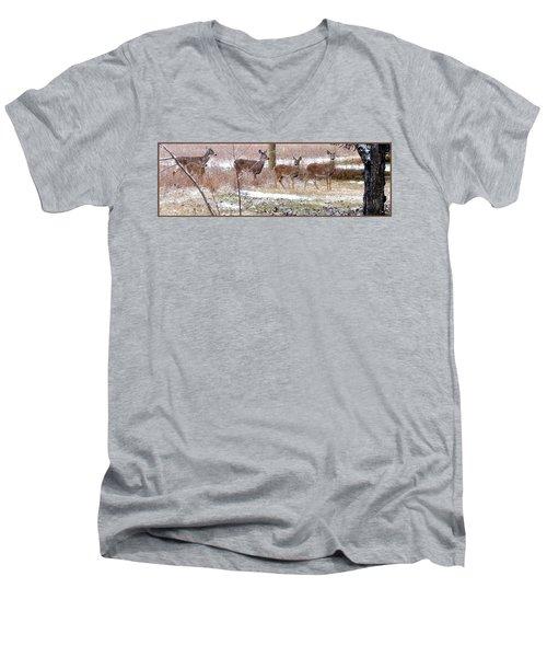 A Dusting On The Deer Men's V-Neck T-Shirt