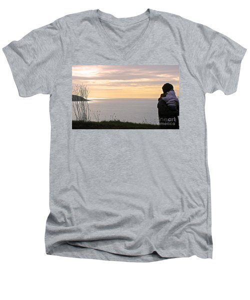 A Father's Love Men's V-Neck T-Shirt by Suzanne Oesterling
