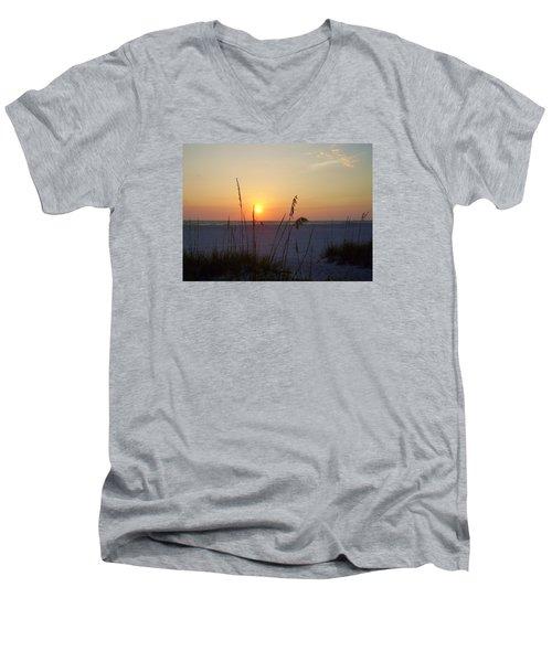 A Florida Sunset Men's V-Neck T-Shirt by Cynthia Guinn