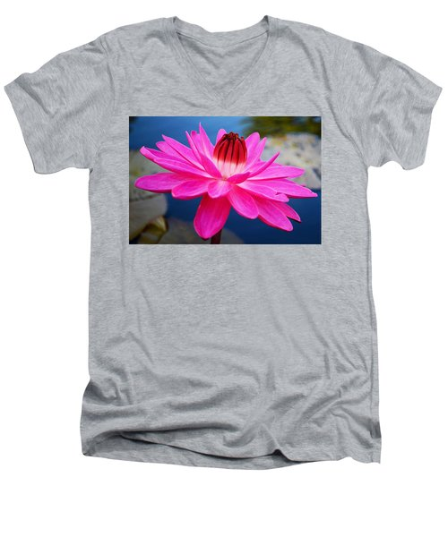A Flower And A Dream... Men's V-Neck T-Shirt
