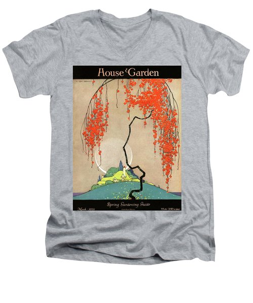 A Flowering Tree Men's V-Neck T-Shirt
