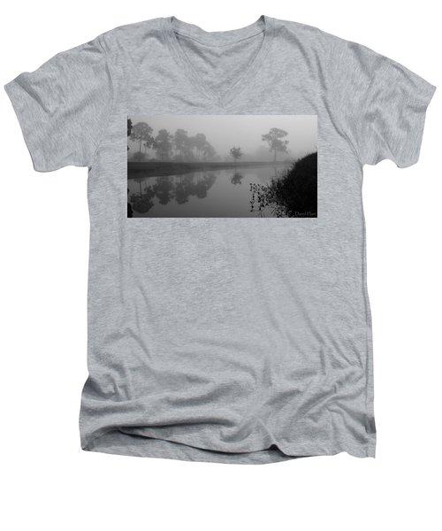 A Foggy Morning Men's V-Neck T-Shirt