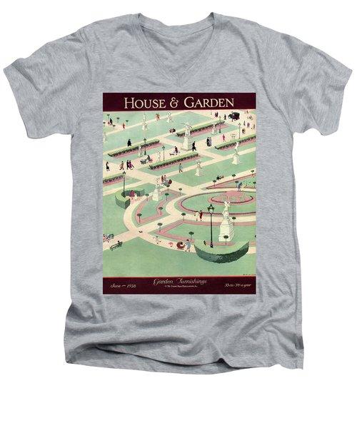 A Formally Designed Park Men's V-Neck T-Shirt