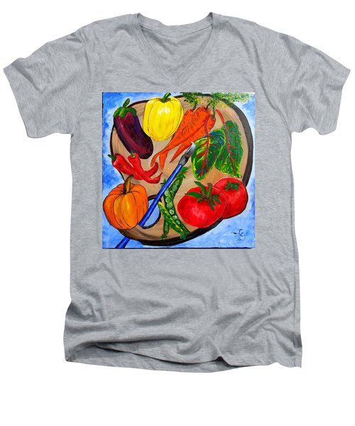 A Gardeners Palette Men's V-Neck T-Shirt