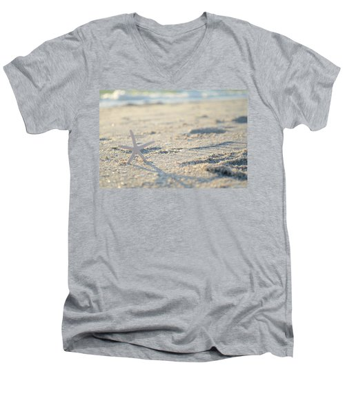A Gentle Thought Men's V-Neck T-Shirt by Melanie Moraga