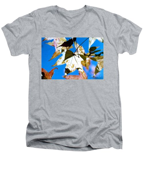 Men's V-Neck T-Shirt featuring the photograph Autumn  In New Orleans Louisiana by Michael Hoard