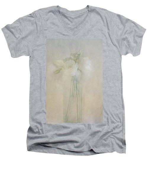 A Glimpse Of Roses Men's V-Neck T-Shirt