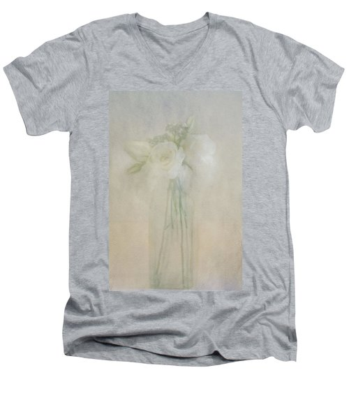 A Glimpse Of Roses Men's V-Neck T-Shirt