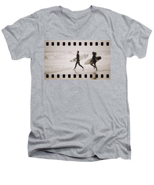 Men's V-Neck T-Shirt featuring the photograph A Good Day To Surf by Alice Gipson