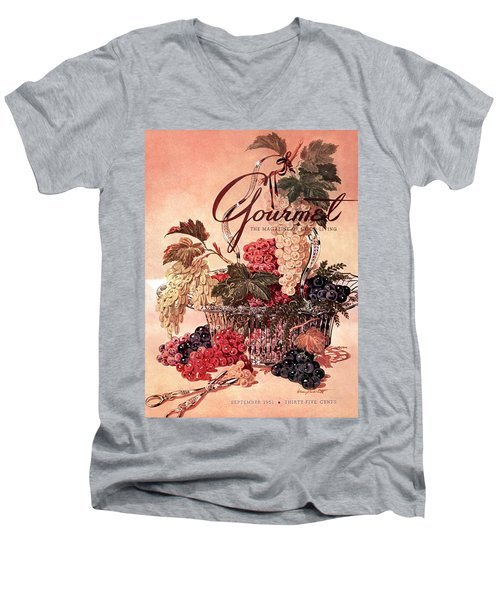 A Gourmet Cover Of Grapes Men's V-Neck T-Shirt