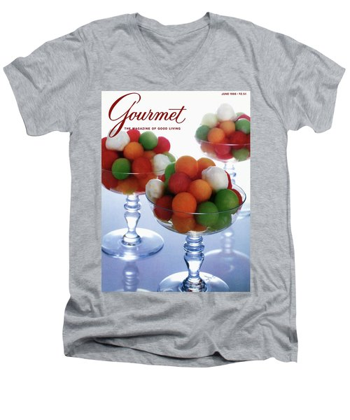 A Gourmet Cover Of Melon Balls Men's V-Neck T-Shirt