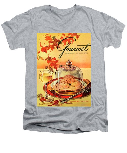 A Gourmet Cover Of Mushrooms On Toast Men's V-Neck T-Shirt