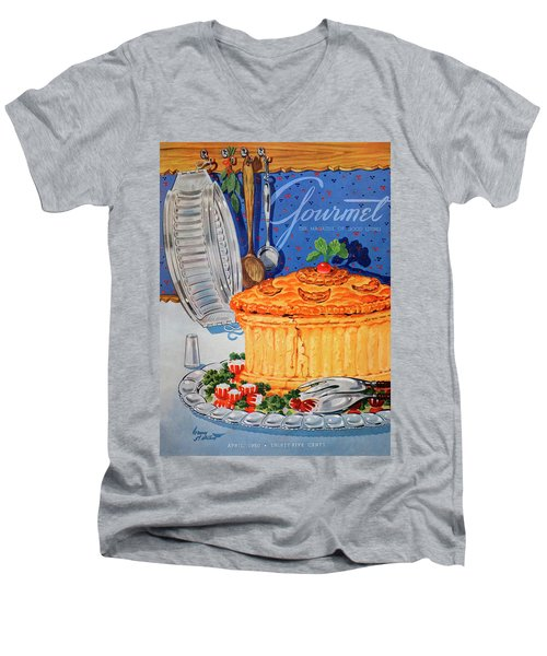 A Gourmet Cover Of Pate En Croute Men's V-Neck T-Shirt
