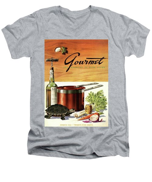 A Gourmet Cover Of Turtle Soup Ingredients Men's V-Neck T-Shirt