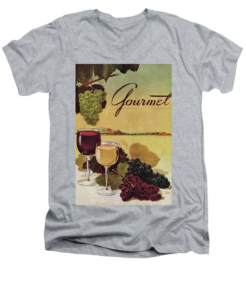 A Gourmet Cover Of Wine Men's V-Neck T-Shirt