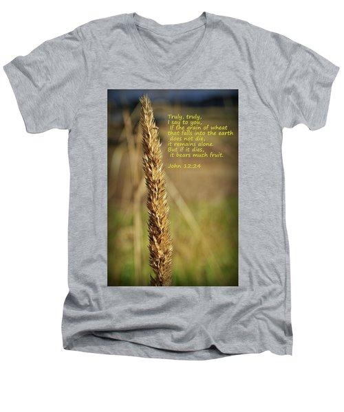 A Grain Of Wheat Men's V-Neck T-Shirt