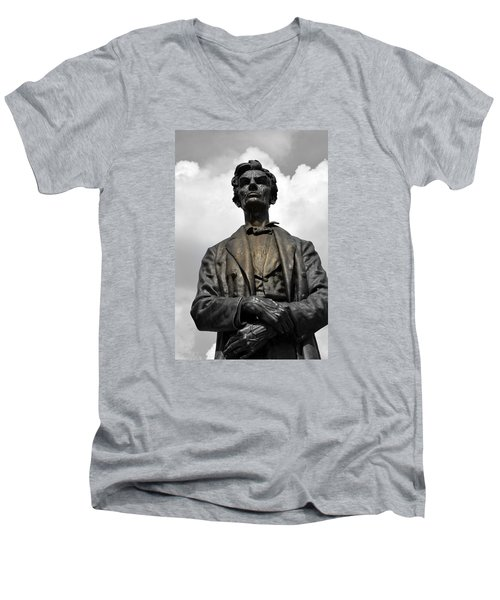 A Great Man Men's V-Neck T-Shirt by Kathy Barney