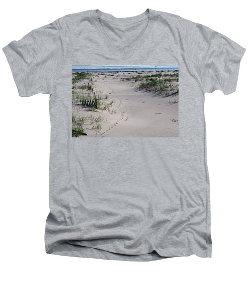 A Gull's Walk To The Ocean Men's V-Neck T-Shirt