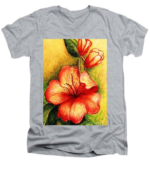 A Harbinger Of Springtime Men's V-Neck T-Shirt by Hazel Holland