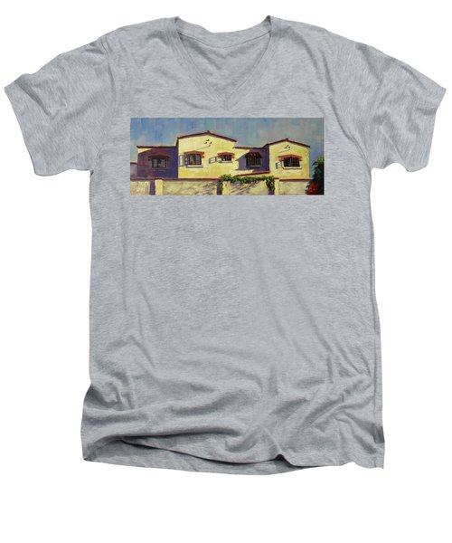 A Home In Barranco,peru Impression Men's V-Neck T-Shirt