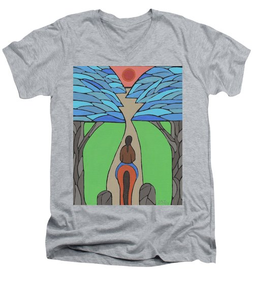 A Horse Of A Different Colour Men's V-Neck T-Shirt by Barbara St Jean