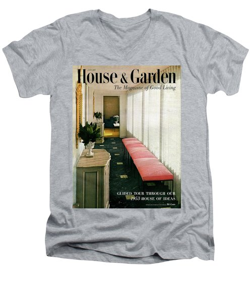 A House And Garden Cover Of A Hallway Men's V-Neck T-Shirt