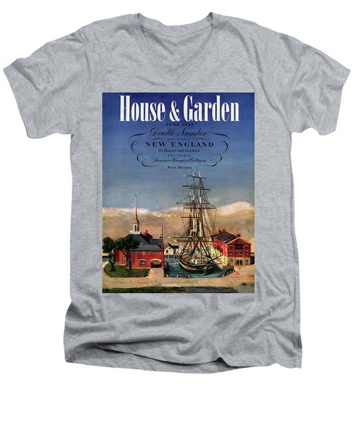 A House And Garden Cover Of A Model Ship Men's V-Neck T-Shirt