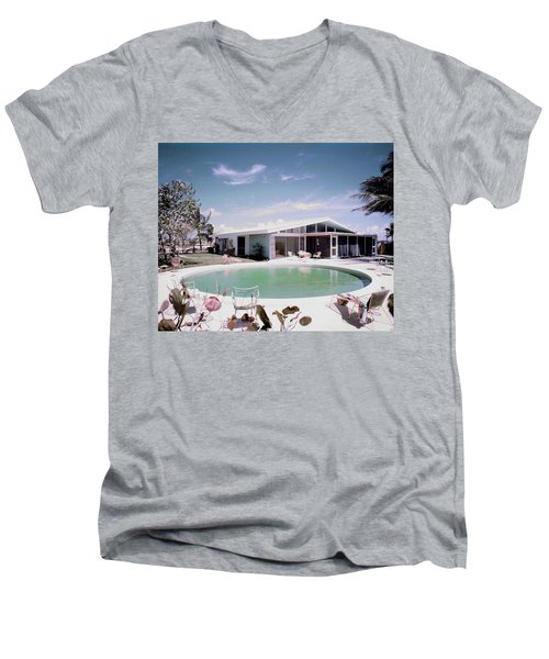A House In Miami Men's V-Neck T-Shirt
