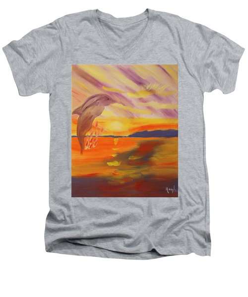 A Leap Of Joy Men's V-Neck T-Shirt
