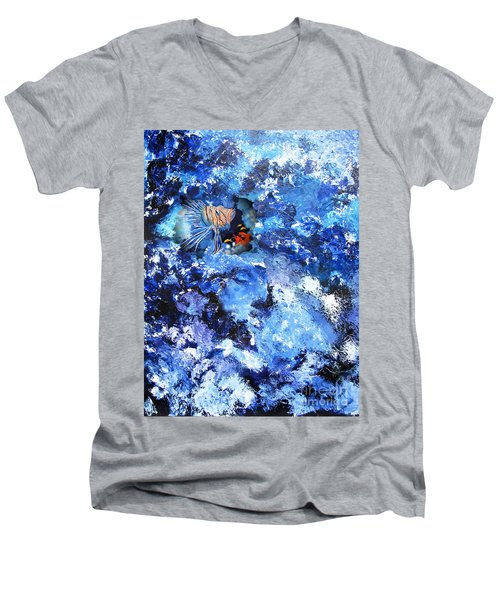 A Lion Out Of The Coral Men's V-Neck T-Shirt
