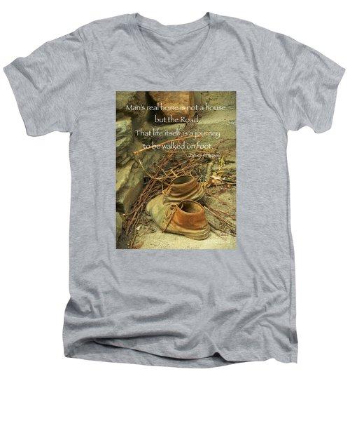 A Long Way Men's V-Neck T-Shirt