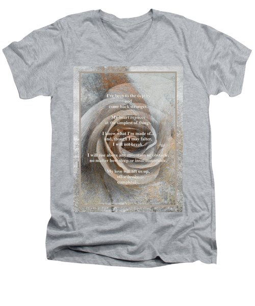 Men's V-Neck T-Shirt featuring the photograph A Love Poem And Photograph by Brooks Garten Hauschild