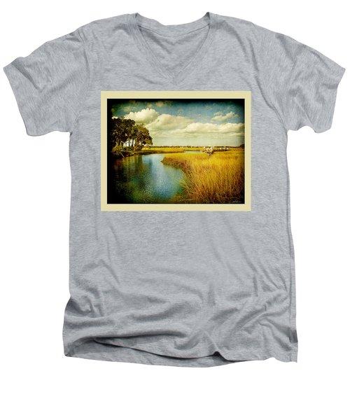 A Melancholy Afternoon Men's V-Neck T-Shirt