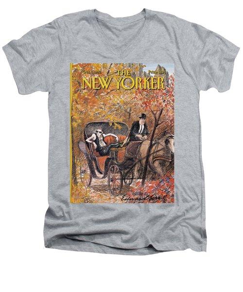 New Yorker October 5th, 1992 Men's V-Neck T-Shirt