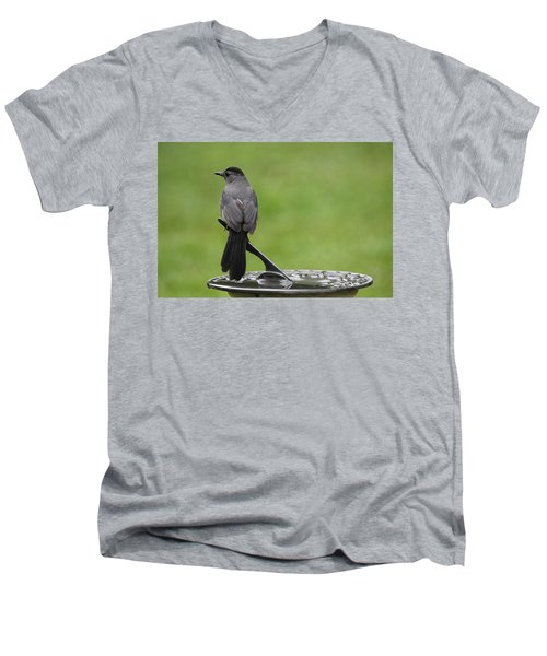 Men's V-Neck T-Shirt featuring the photograph A Moment In Time by Trina  Ansel