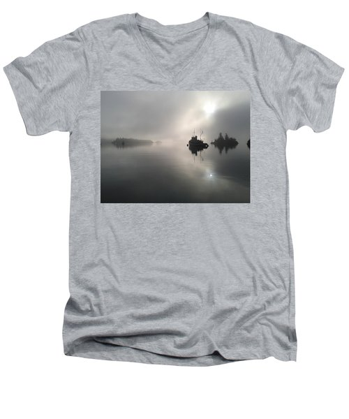 A Moody Morning Men's V-Neck T-Shirt
