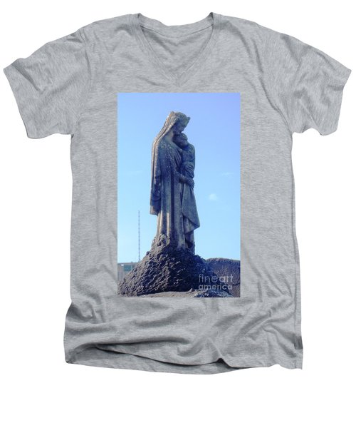 Men's V-Neck T-Shirt featuring the photograph A Mother's Love by Alys Caviness-Gober