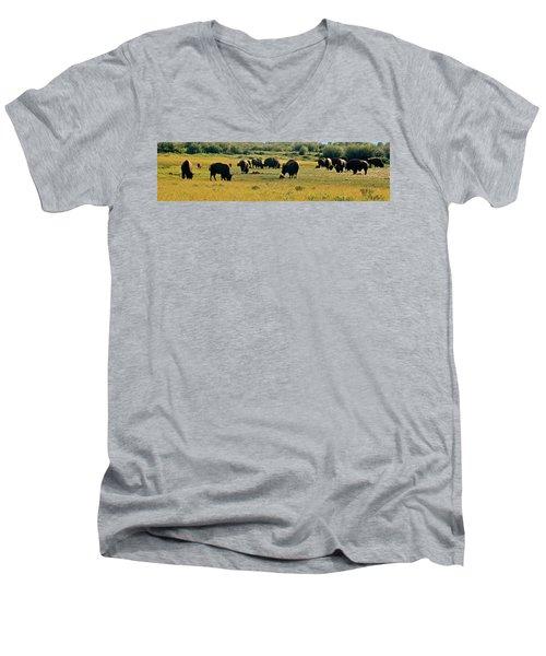 A New Beginning Grand Teton National Park Men's V-Neck T-Shirt