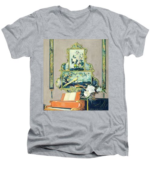 A Painting Of A House Interior Men's V-Neck T-Shirt